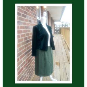 Calvin Klein Velvet green cropped cardigan